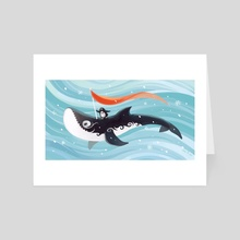 Grandpa Orca - Art Card by Indré Bankauskaité