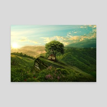 Green Space - Canvas by Arlo Magicman