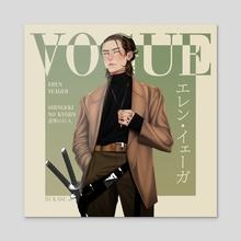 Eren Yeager - Acrylic by Rukasu art