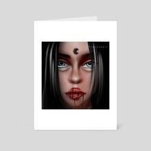 Blood moon - Art Card by Francesca Brighty