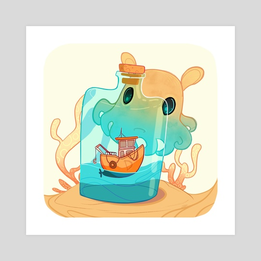 D is for Dumbo Octopus by Ashenwave