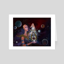 Cosmic Cold Brew - Art Card by Frankie Smith