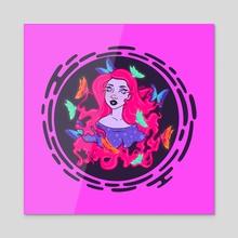 Euphoria - Acrylic by Maverick Chavaria & Cecilia Salisbury