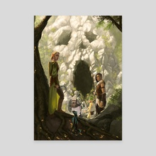 Lair Entrance - Canvas by Claudio Pozas