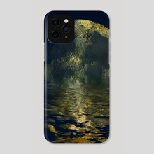 melting moon - Phone Case by Kristian Leov