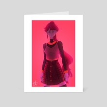 modern pyrrha - Art Card by Kuzole Q