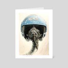 Sally Ride Aviator Helmet - Art Card by Adrianna Allen
