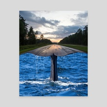Whalstreet - Canvas by Justin Peters