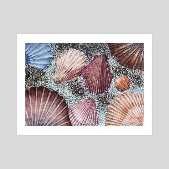 Seashells and foam  by Olga Katkova