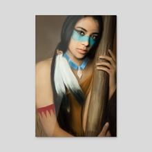 New World Princess - Acrylic by Andi Robinson