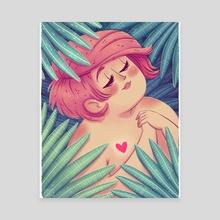 Plant lady #2 - Canvas by Patrycja Fabicka