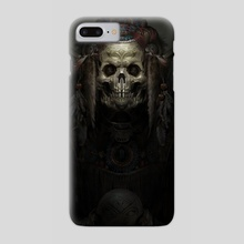 Aztec Demon Print 2 - Phone Case by Konstantin  Chernianu