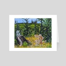 Me and the Stump - Art Card by Maranda Cromwell