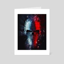 Neon polygon skull - Art Card by Trimitrius