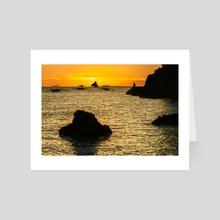 Not alone sunset - Art Card by Yury Barsukov
