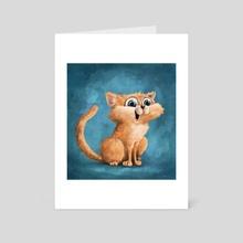 An Overjoyed cat - Art Card by Phillip Cullen