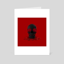 Love is Dead - Art Card by Mehmet Geren