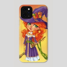 Halloween Witch Chibi - Phone Case by Maria Dimova