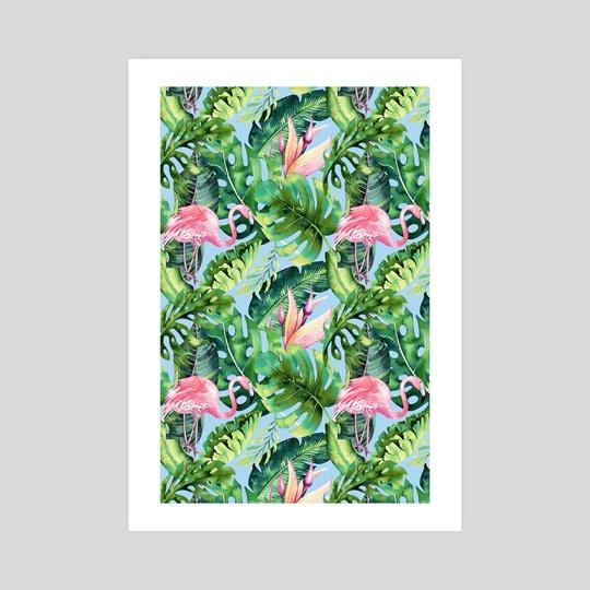 Flamingo Tropical-II by 83 Oranges