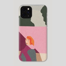 Pink wall - Phone Case by Agnes Loonstra
