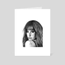 Lea Michele - Art Card by Ioanna Kolokotroni
