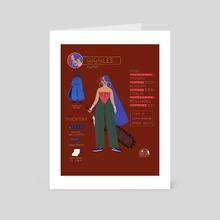 Las Poderosas Series: Giggles - Art Card by Gabriela Riveros
