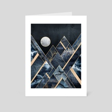 Stormy Mountains - Art Card by Elisabeth Fredriksson