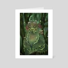 Banana-Squatch Witch - Art Card by Jessica R U Bishop