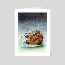 Outboard motor - Art Card by Ramon Gonzalez Teja