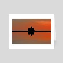 Beautiful sunset at Cascais - Art Card by João Ferro
