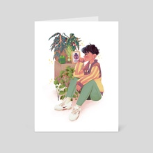 Boy and Plants - Art Card by KLY🤹🏻‍♂️