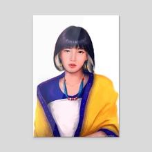lisa - Acrylic by ashish langthasa