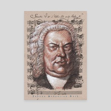 bach poster - Canvas by mamut  rojo