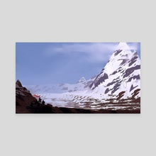 Snow Mountain - Canvas by Luca Lisci