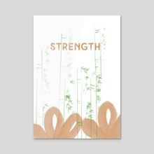 Strength  - Acrylic by Navita Williams