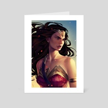 Wonder Woman - Art Card by Mioree .