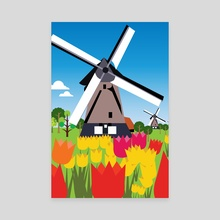 Windmill 18 - Canvas by Michal Eyal