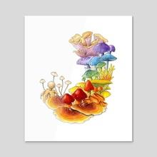 Pride of Fungus - Acrylic by Sean Vidal Edgerton