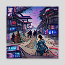 Streets of Neo-Tokyo - Canvas by Neural Avocado