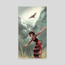 Akin to an eagle - Canvas by Abigail Dela Cruz
