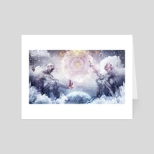 Awake In A Silver Land - Art Card by Cameron Gray