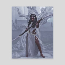 The Goddess of Beauty and War, Oshun - Canvas by Giby Joseph