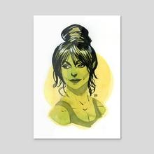 Ms. Jade  - Acrylic by Kevin Wada