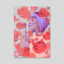 Bubbles - Acrylic by Briana Hertzog