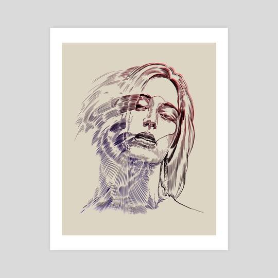 Blurred woman portrait 2 by Pablo Puentes