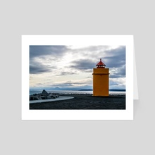 Lighthouse at the Point - Art Card by Alex Tonetti