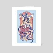 Buni - Blue - Art Card by Aeriselle