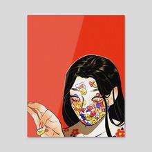Egoist - Acrylic by Hayley Hanyuda Wong