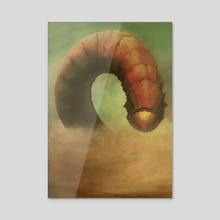 Sandworm of Dune - Acrylic by David Leahey