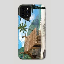 Beach hut - Phone Case by Janos Tokity